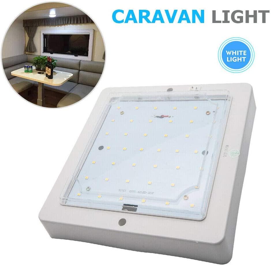 MACHSWONLED Ceiling Light, 12V 9W Car Roof Light, Interior Lamp for Motorhome Caravan Camper RV Trailer Truck Vehicle, White