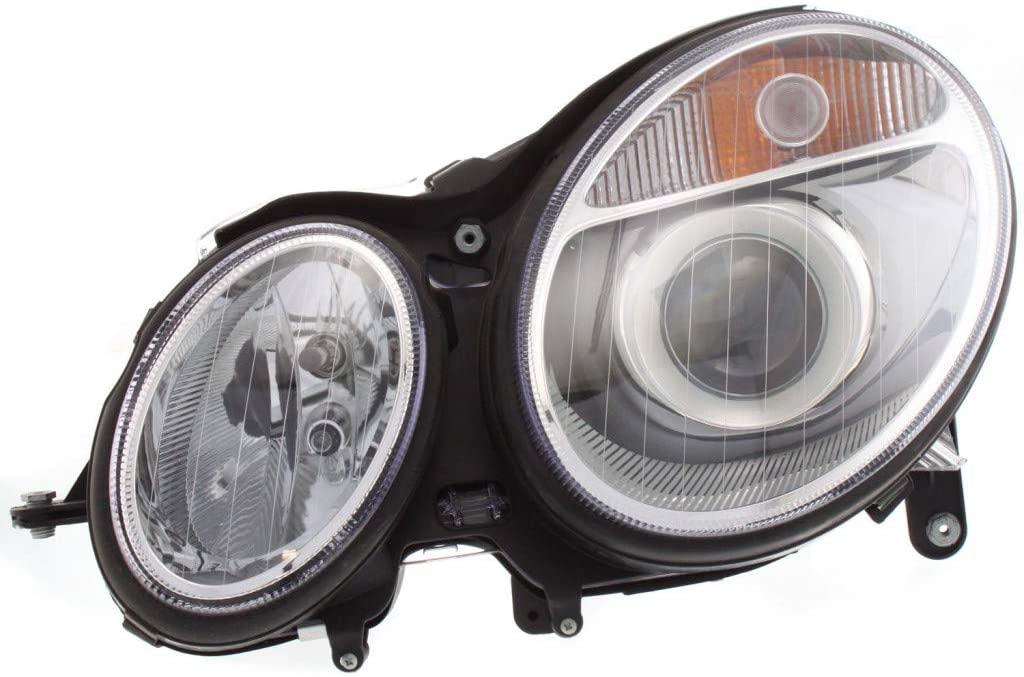 For Mercedes Benz E350 Headlight Assembly 2006 2007 Passenger Side | Halogen | Sedan/Wagon | CAPA MB2503108 | 2118200461