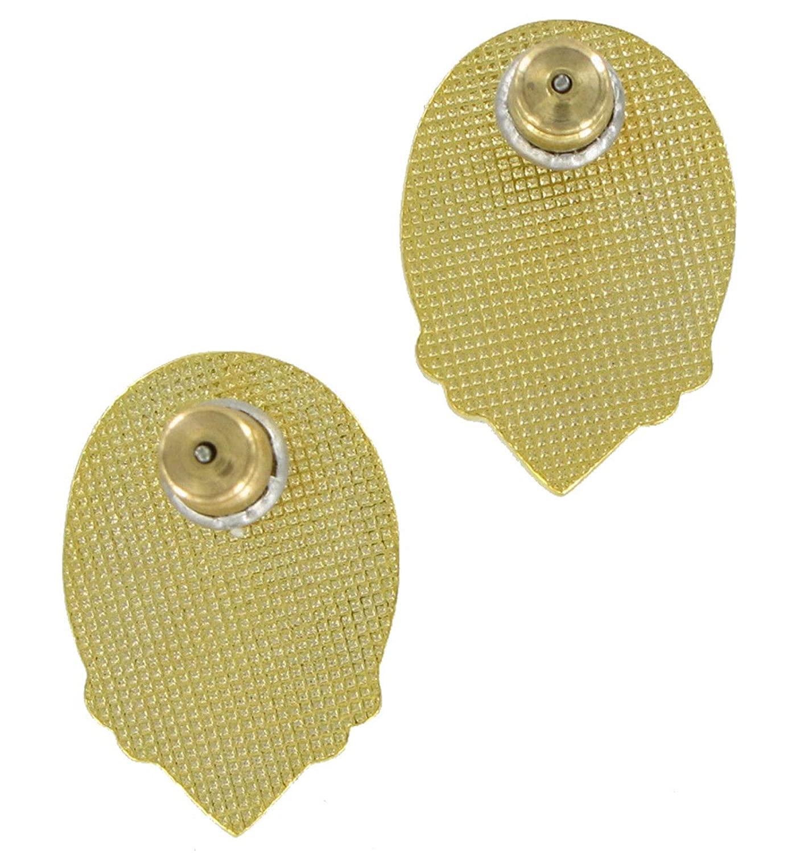 Pierced Earrings Gold Tone Rhinestone Faux Pearl Stud Earrings For Women Set