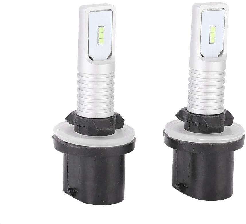 Acouto Fog Lights,2Pcs 72W 8000K 12-24V Car Ice Blue LED Light Bulbs For 881/889 Fog Light with Decoder