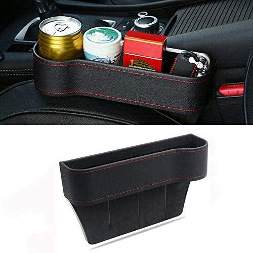 MACHSWON Car Seat Gap Slit Storage Organizer Caddy Keys Phone Holder Box PU Leather Right