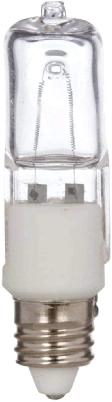 10 Pcs of 75 Watt E11 Base Mini Candelabra, Halogen Light Bulb, 120 Volts, 120V 75W