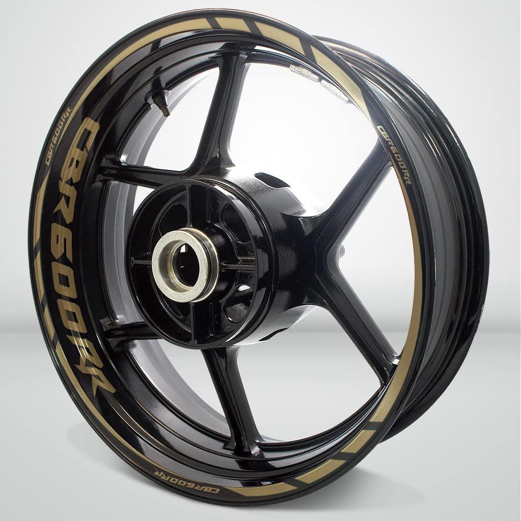 Matte Gold Motorcycle Rim Wheel Decal Accessory Sticker For Honda CBR 600RR