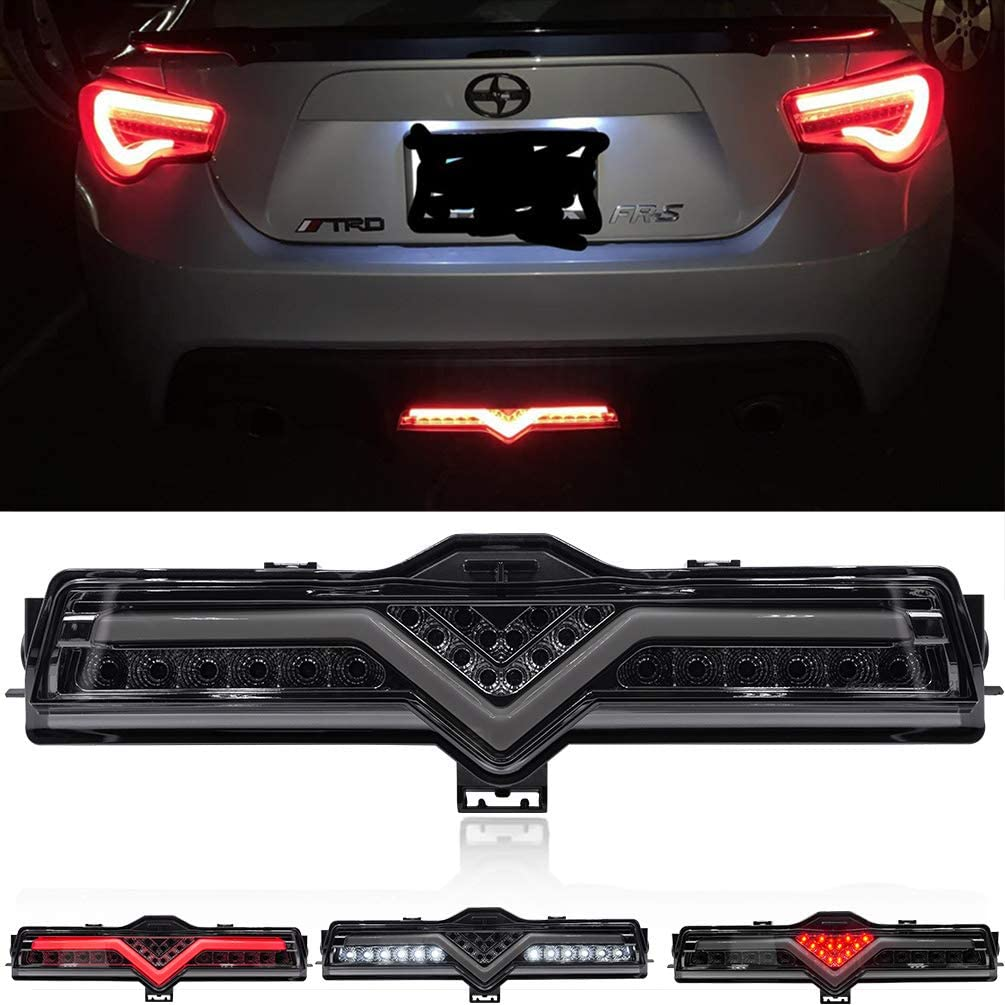 Red LED Brake & Rear Fog Light for 2013-2016 Scion FR-S, 2013-2020 Subaru BRZ, 2013-2020 Toyota 86 White LED Reversing & Backup Lights Clear Lens Reverse Lights to Match the Taillights