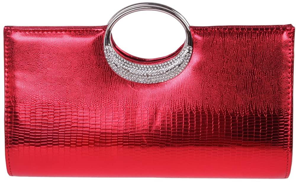 Fawziya Crystal Clutch Bag Velvet Evening Purse For Women