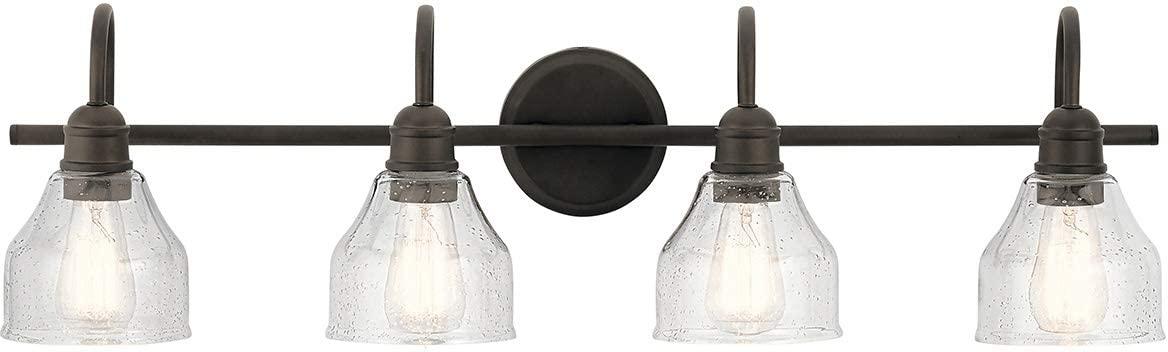 Kichler 45974OZ Avery Vanity, 4-Light 300 Total Watts, Olde Bronze
