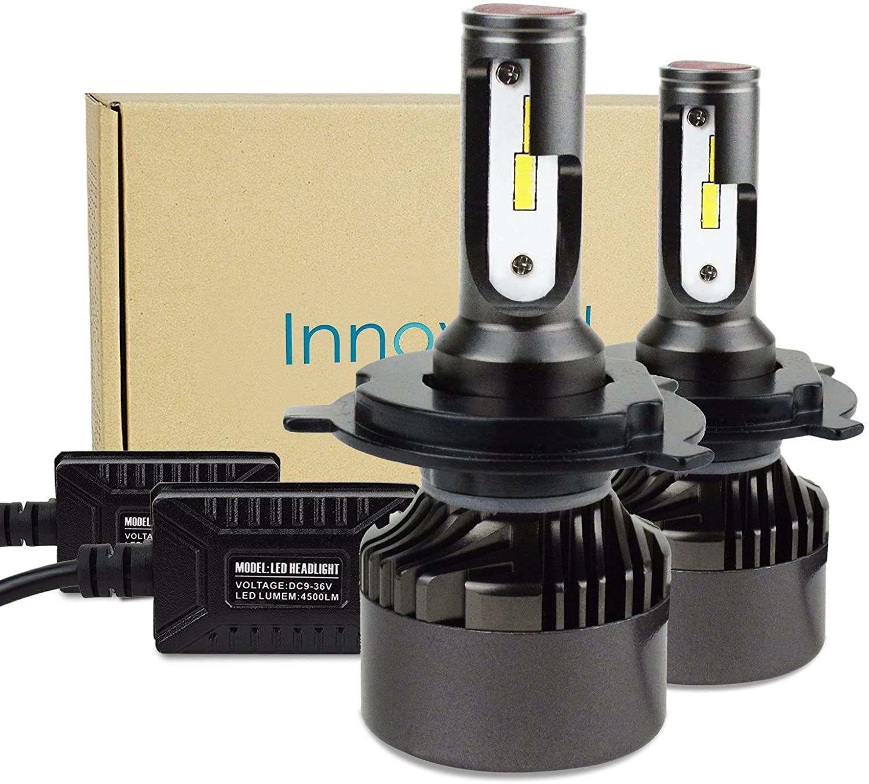 Innovited H4 9003 HI LO 60W 9,000LM 6000K Cool White CSP LED Headlight Bulbs Conversion Kit,2 Yr Warranty