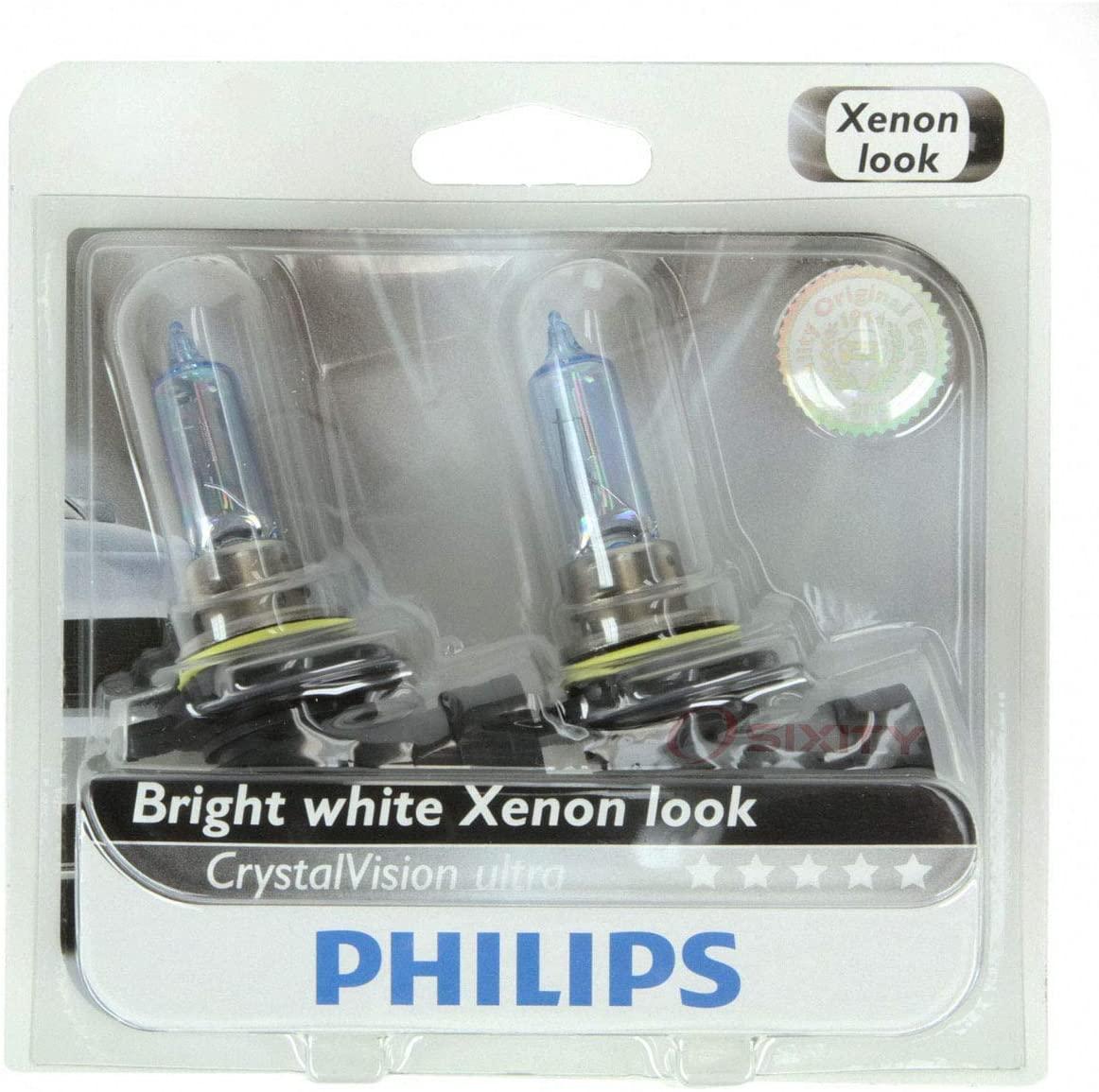 Philips High Low Beam Headlight Light Bulb for Chrysler 200 300 2011-2015 - CrystalVision Ultra Halogen