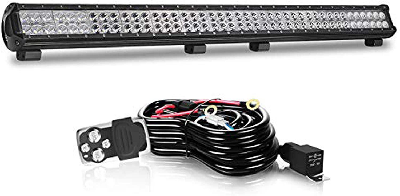 QUAKEWORLD LED Light Bar 39Inch 252W LED Work Light Bar Spot Flood Combo Fog Light Driving Lights Offroad Lighting for SUV UTE ATV Truck 4x4 Boat