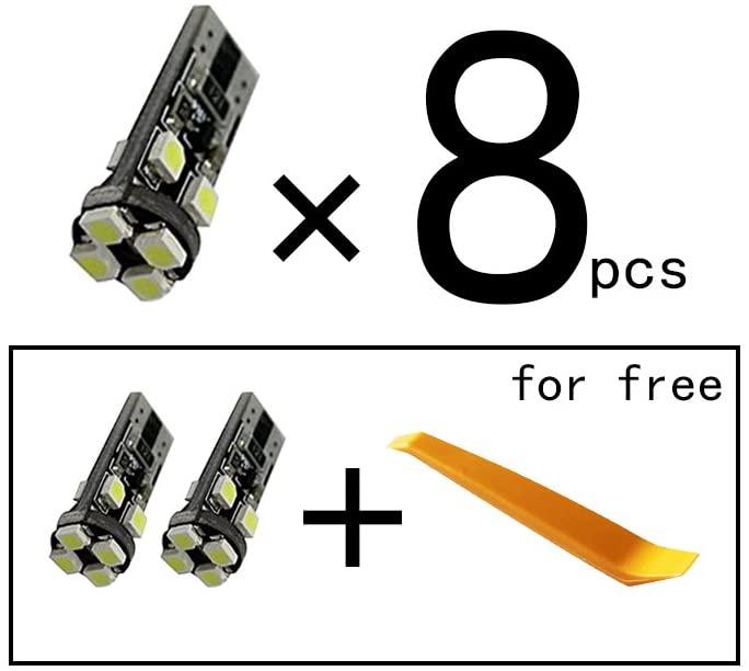 Car Led Bulbs Led Interior Lights Car Led Lights T10 8LED 3528SMD White 8pcs