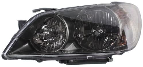 Headlight Assembly Compatible with 2004-2005 Lexus IS300 HID with HID Kit Special Design with Sport Pkg Black Driver Side