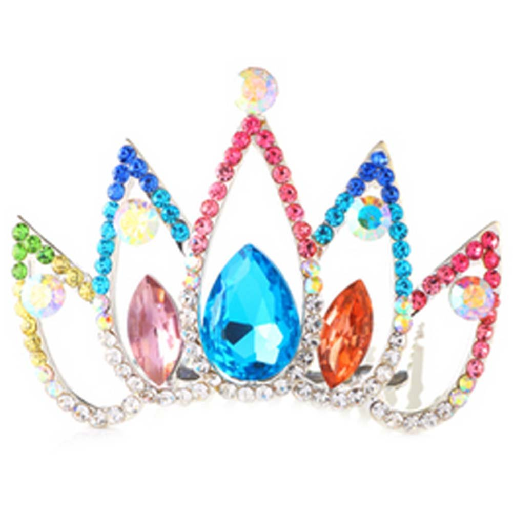 Hair Comb Crystal Crown Headband Bridal Headdress