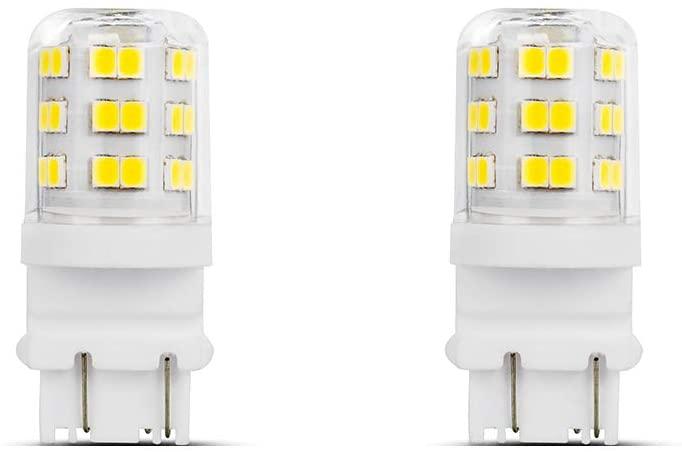 Makergroup 3157 3057 3156 3056 LED Light Bulbs 4W Xenon White 6000K for for Daytime Running Lights (DRL) and Back-Up/Reverse Packing Lights 2-Pack