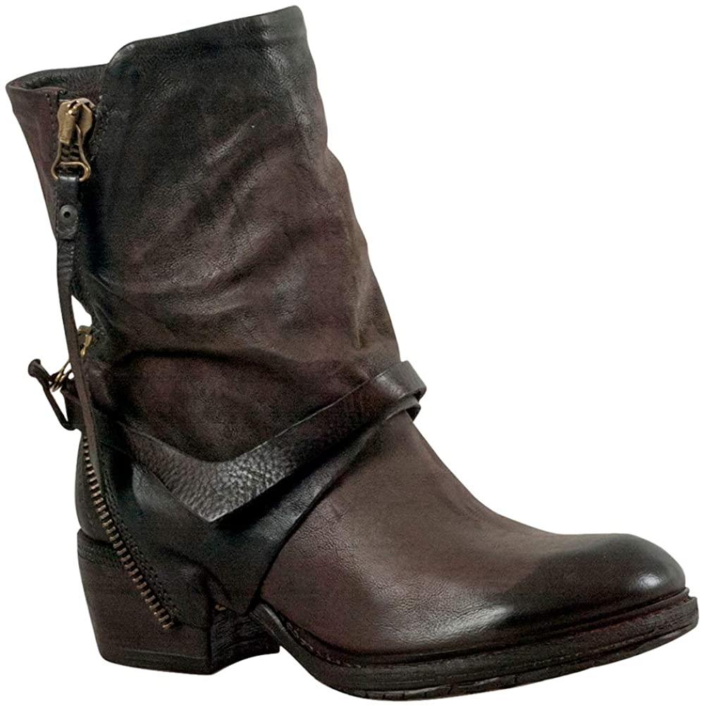 AS 98 Women's Cayden Vamp Harness Leathe Ankle Boots