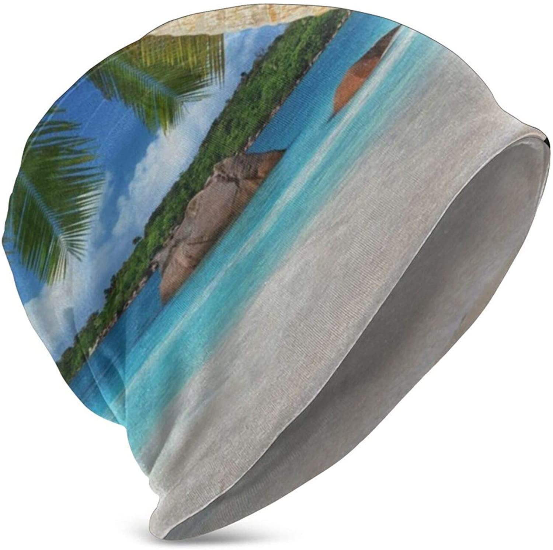 Ocean Palm Tree Beanie Winter Hats for Kids Skull Cap Knit Hip-Hop Hat Girls Boys