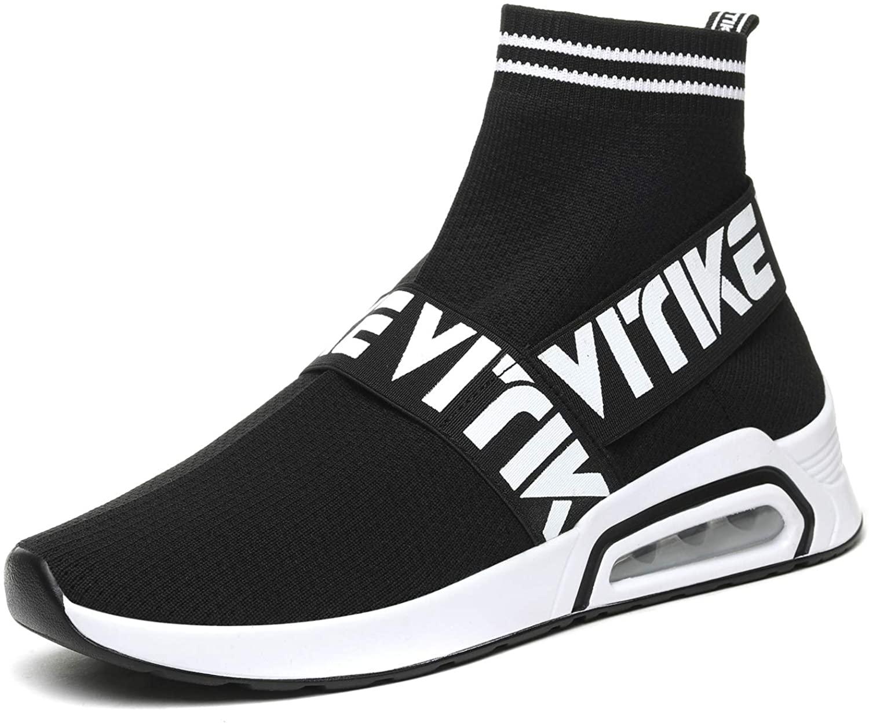 JMFCHI Womens Walking Shoes Sock Sneakers Girls Running Shoe Hip Hop Dance Sneaker Mesh Air Cushion Slip-on Lightweight Breathable Fashion Platform