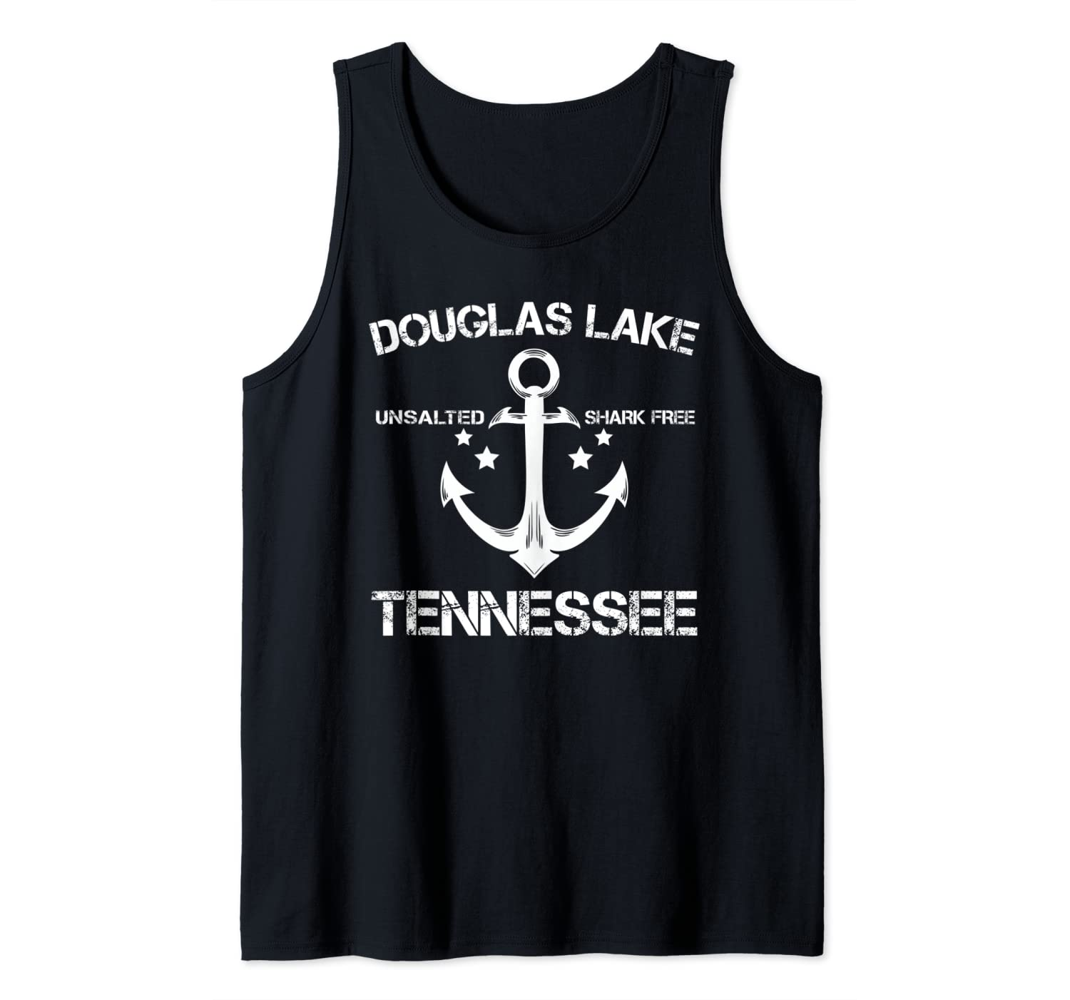 DOUGLAS LAKE TENNESSEE Funny Fishing Camping Summer Gift Tank Top