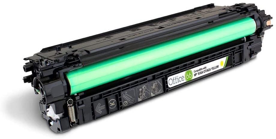 Compatible Office 66 HP (508A) CF362A Yellow Toner Cartridge (5,000 Page Yield)