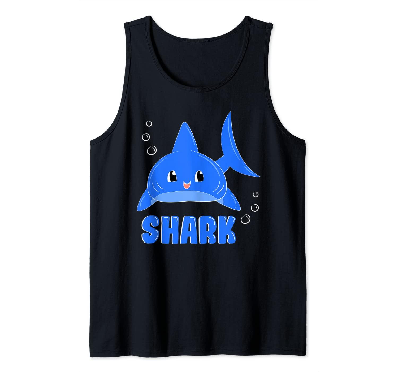 Cute Blue Shark Shirt Tank Top