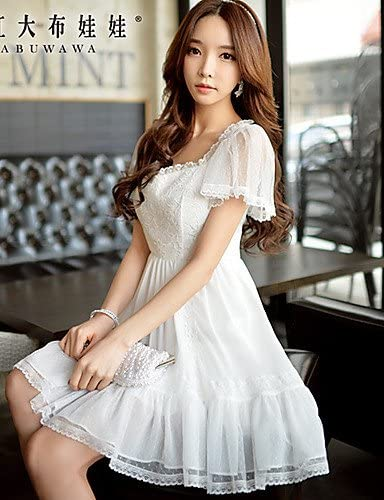 HJL-Pink Doll?Women's Casual/Party/Lace Sleevless Dress