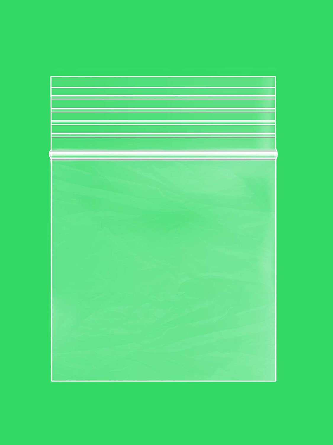 1.25 x 1.25 inches, 2Mil Clear Reclosable Zip Lock Bags, case of 100 GPI Brand