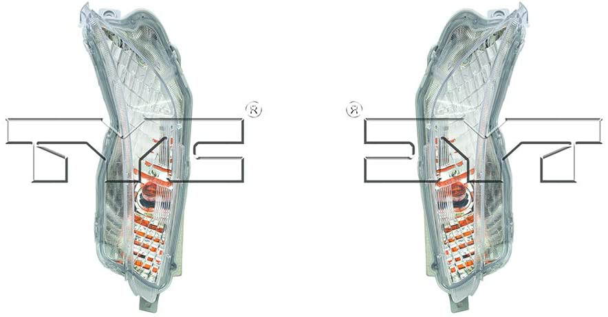 CarLights360: For 2015 Toyota Camry Turn Signal Light Assembly Driver and Passenger Side CAPA Certified w/Bulbs Halogen Type - Replaces TO2530153 TO2531153 (Hybrid LE ; Hybrid SE ; LE ; SE)