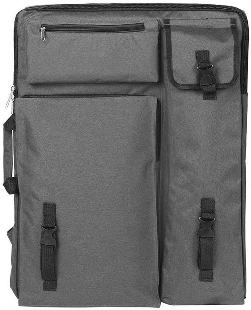 Artists Carry Bag Art Student Drawing Board Sketch Pad Storage Bag Portable Multifunctional Field Waterproof Durable Portfolio Backpack Sketching Painting Art Supplies Organizer Case