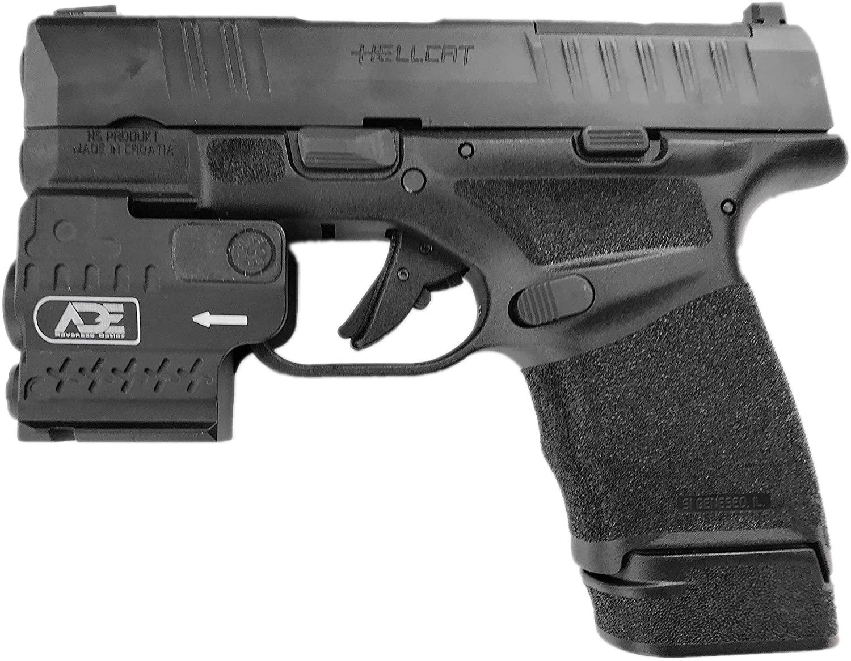 Ade Advanced Optics HG55-1 Full Metal Green Laser + Flashlight Sight for Ultra Compact Pistol Handgun for Springfield Hellcat Micro-Compact 9MM Pistol