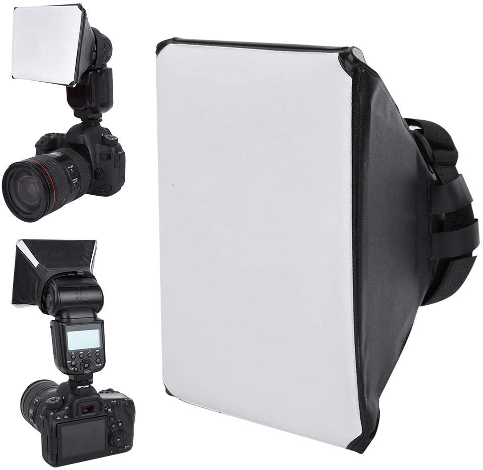 Mugast Universal Flash Light Softbox, Rectangle Shape Speedlite Softbox Diffuser for Most External Flash of Digital Cameras