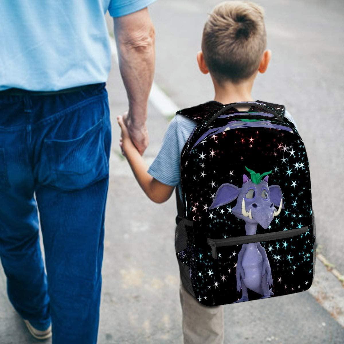 Dragon Cartoon Character Backpack for Kids Girls Boys Teen Elementary School Children Bookbag Camping Daypack Purse Laptop Bag Tote multfunction Pocket with Wide Shoulder Straps
