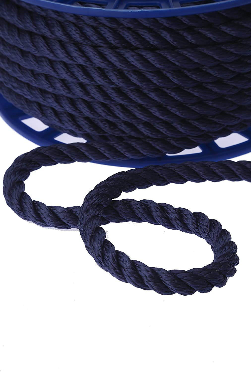 KALYON Premium Quality 3 Strands 12MM (1/2'' 45ft') Floating Polypropylene Rope - Made in Turkey - Marine Rope, All Sizes