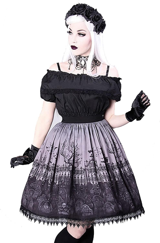 Restyle Clothing Cemetery Grey Skirt - Sizes S - XXL/Gothic Lolita Skirt