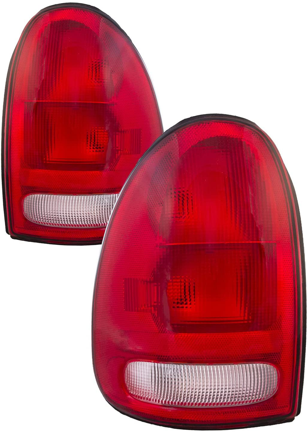 HEADLIGHTSDEPOT Tail Light Compatible with Chrysler Dodge Plymouth Caravan Durango Town & Country Voyager Includes Left Driver and Right Passenger Side Tail Lights