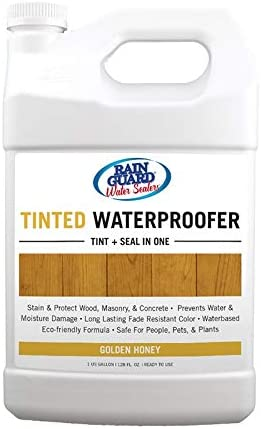 Rainguard Honey Color Tinted Waterpoofer For Concrete, Brick Wood Adds a Transparent Hint of Color 1 Gallon