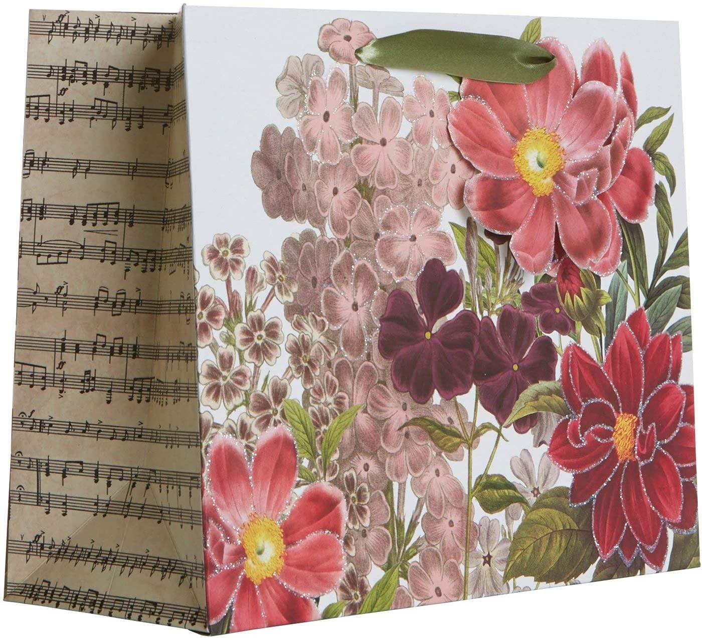 Jillson & Roberts Large Gift Bags, Botanic (12 Pcs)