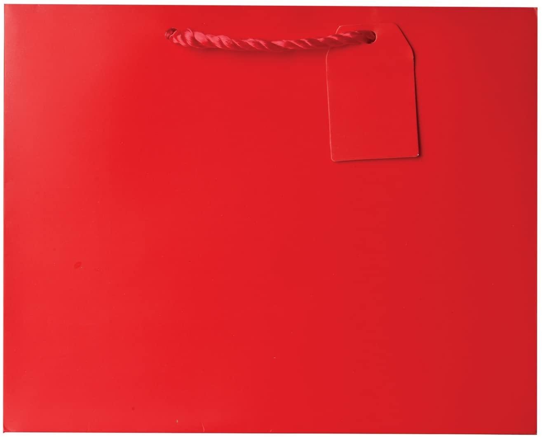 Jillson Roberts Jumbo Gift Bags, Red Matte, 6-Count