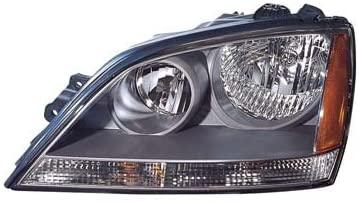 CarLights360: For 2005 2006 KIA SORENTO Head Light Assembly Driver Side w/Bulbs (Black Housing) - Replacement for KI2502122