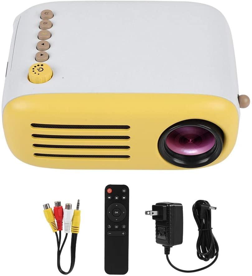 Eastbuy Mini HD Projector Mini Home HD 1080P LED Portable Projector HDMI USB Home Cinema Support Computer Phones(US Plug)