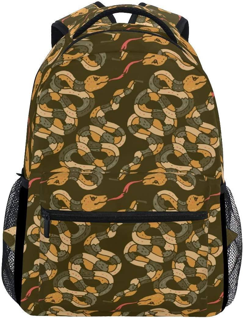Stylish King Snake Backpack- Lightweight School College Travel Bags, ChunBB 16