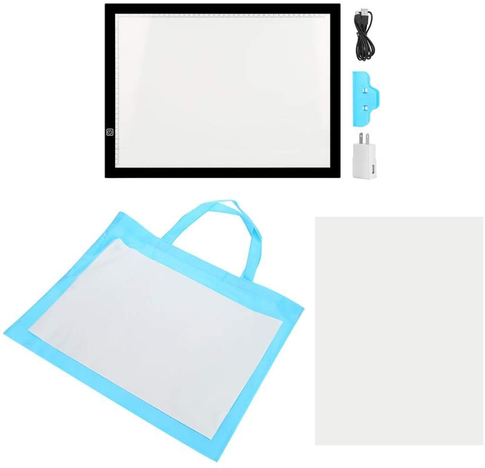 GOTOTOP US110V A3 Tracing Board Portable LED Light Box Copy Board for Sketching Animation Artists Drawing Stencilling 12W