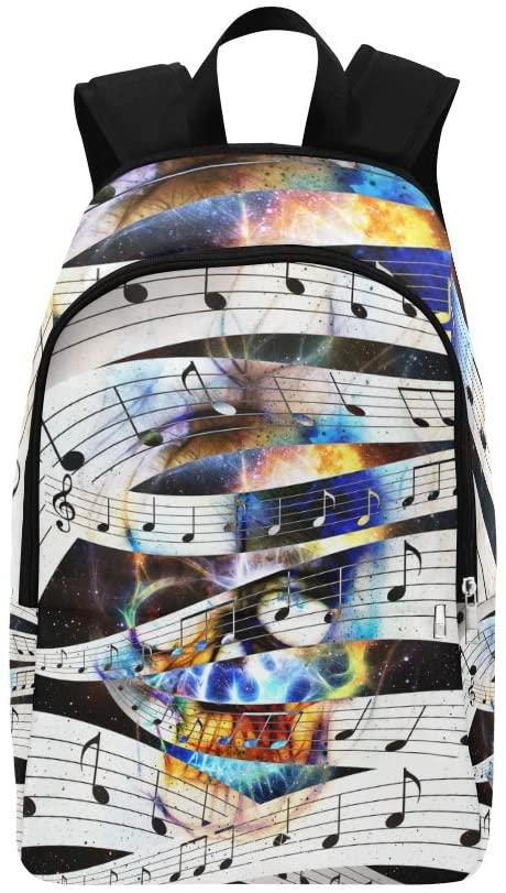 Skull Music Note Custom Casual Backpack School Bag Travel Daypack