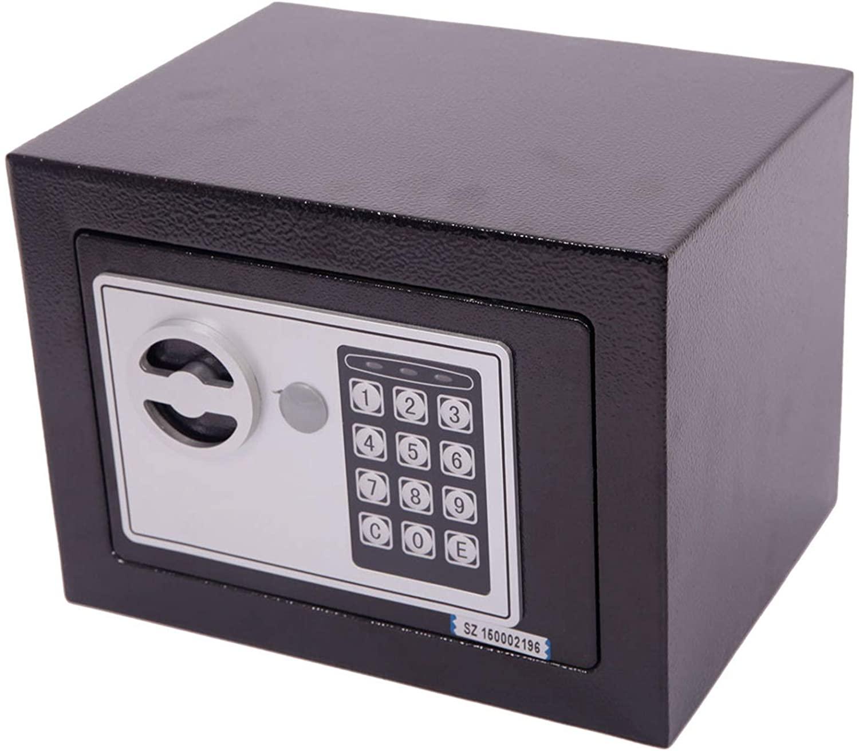 Security Keypad Lock Electronic Digital Steel Safe Box Black - Safe Box, Security Safe for Home Office Hotel Business