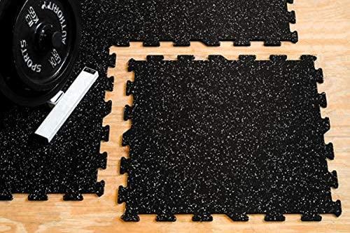 American Floor Mats Sport 8mm Heavy Duty Rubber Flooring - Interlocking Rubber Tile (23