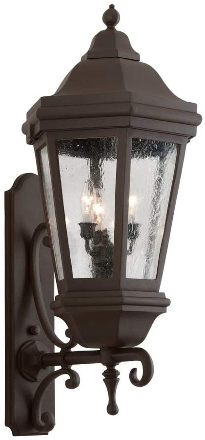 Troy Lighting BCD6834BZ Verona - Three Light Outdoor Wall Lantren, Bronze Finish with Clear Glass