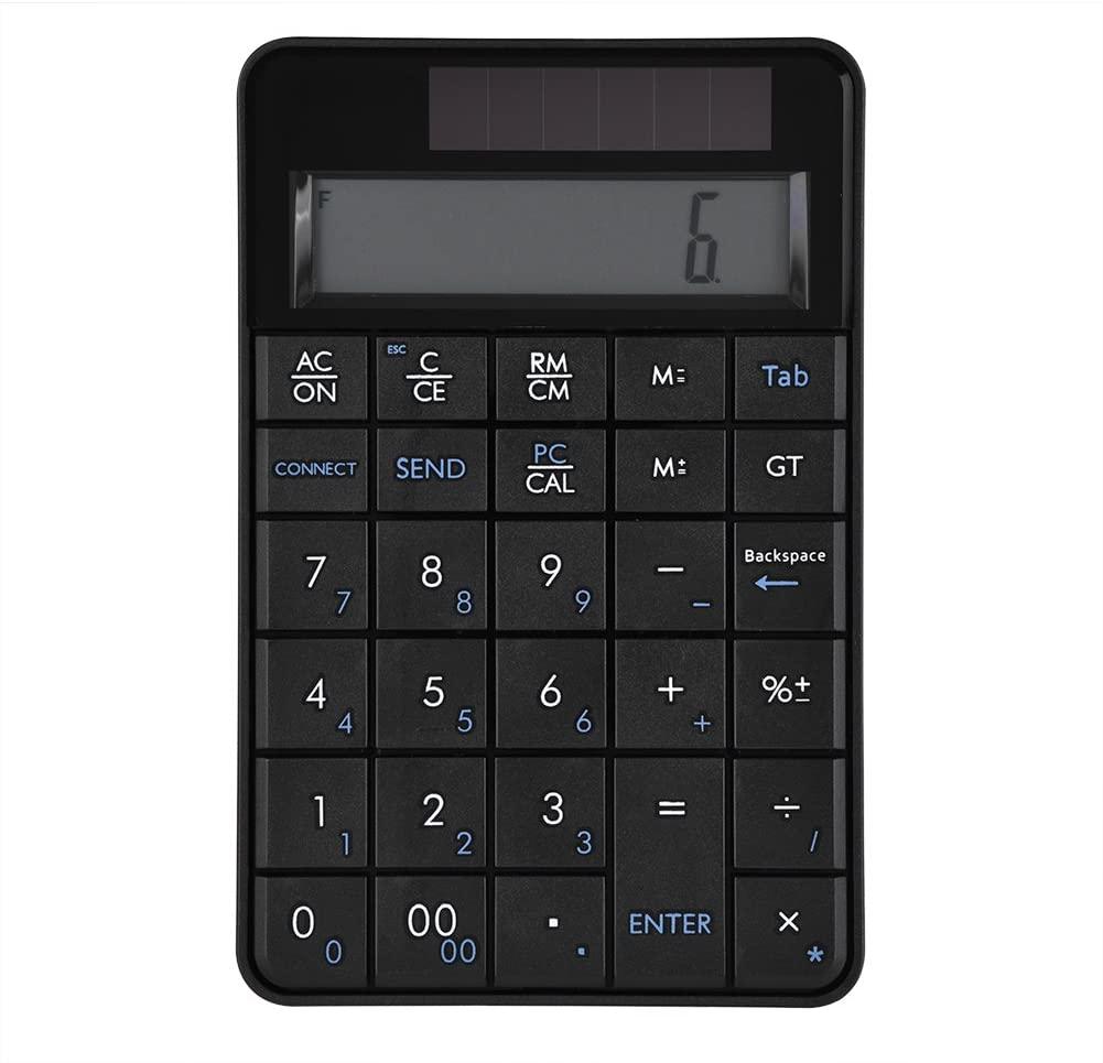 DEWIN 2 in 1 29 Keys Mini Numeric Keypad Keyboard & Calculator with LCD Display,2.4G Wireless USB