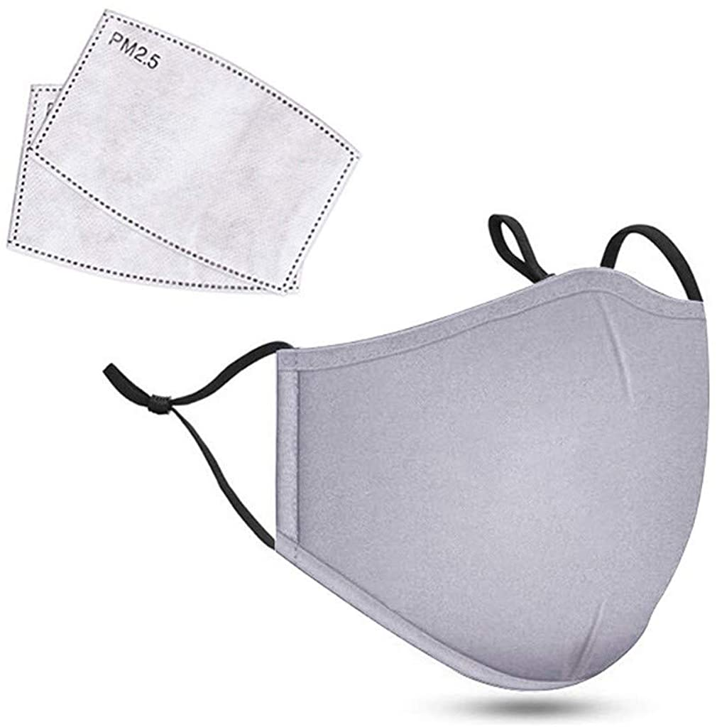 1PC Reusable Cotton Mouth Face +2 PC Replaceable Mouth Cover Sheet for Man and Woman Bandana