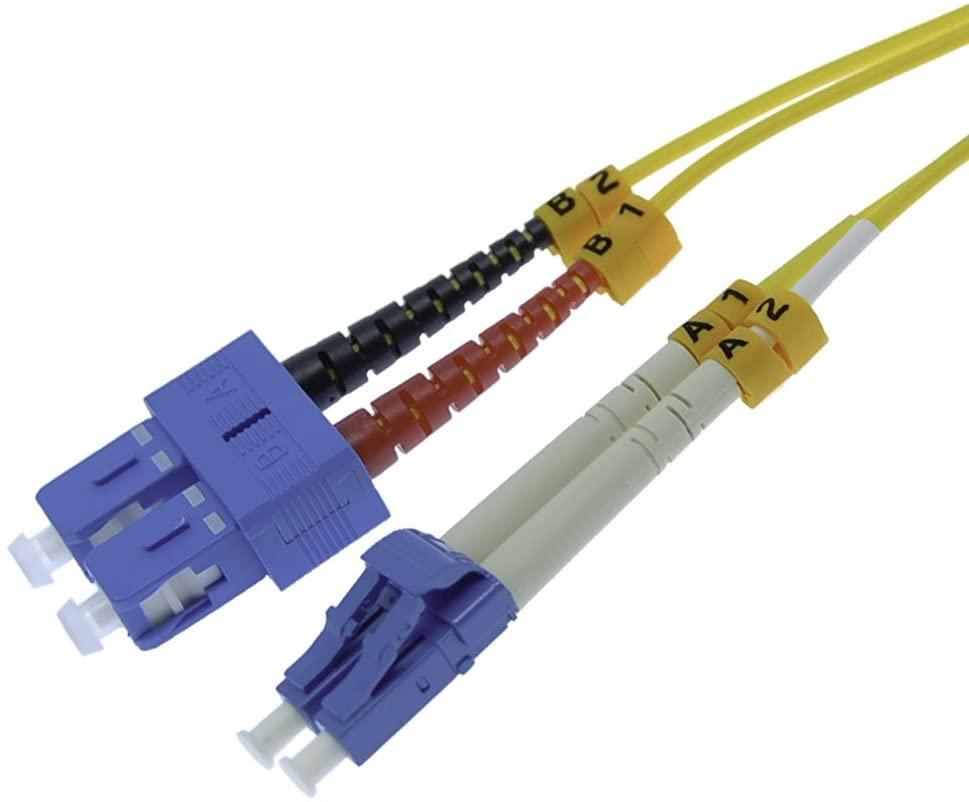 GOWOS 15m LC-SC Duplex Singlemode 9/125 Fiber Optic Cable