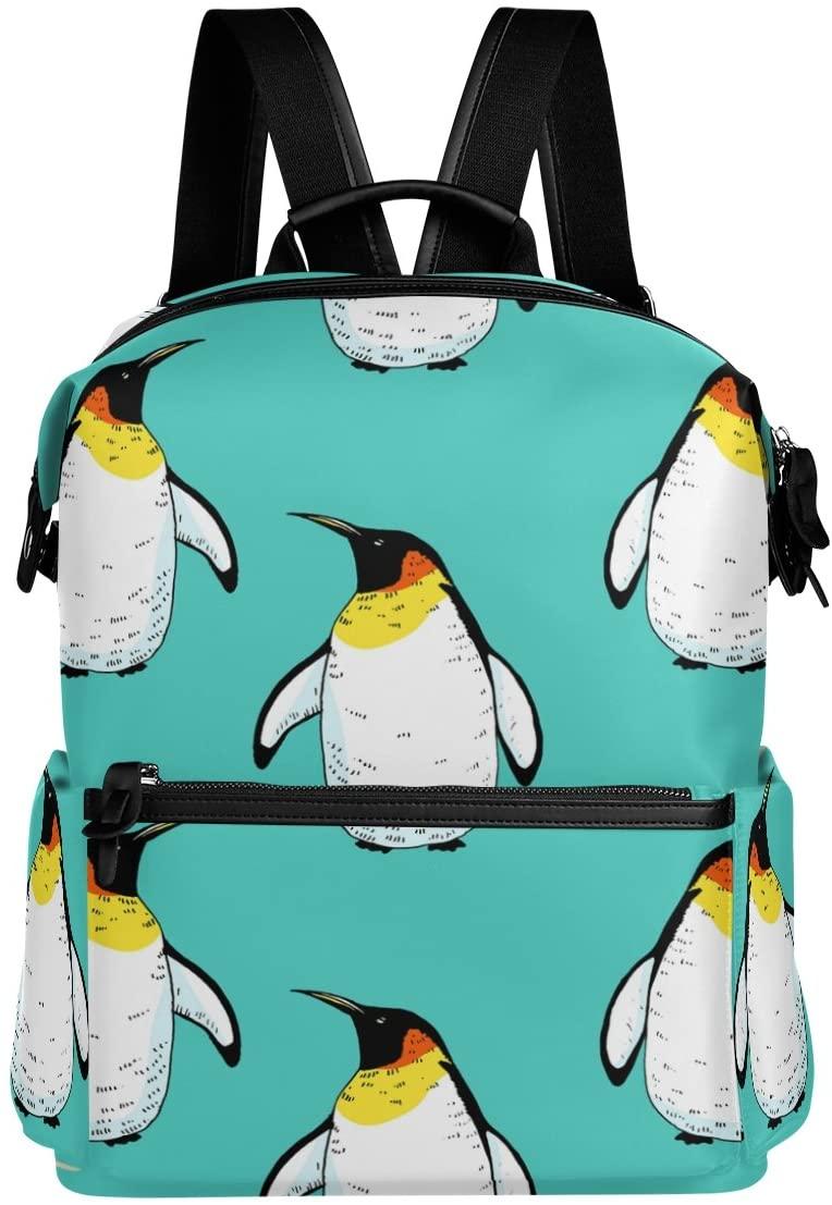ALAZA Penguin Casual Backpack Waterproof Travel Daypack Student School Bag