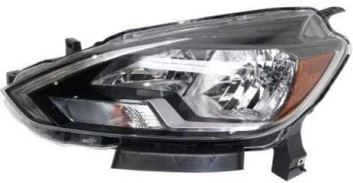 Go-Parts - for 2016 - 2018 Nissan Sentra Headlight Headlamp Assembly Replacement Front - Left (Driver) (CAPA Certified) 26060-3YU0A NI2502244C Replacement 2017