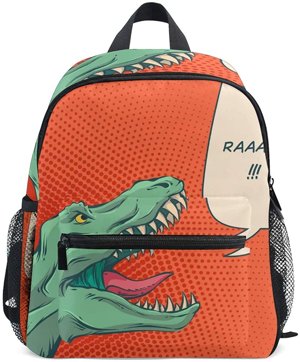 Kids School Backpack Comics Dinosaur Toddler Preschool Shoulder Bookbag Kindergarten Elementary School Bag for Small Boys Girls